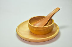 Wood spoon Stock Images
