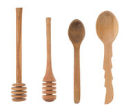 Wood spoon and stick as utensils Stock Image