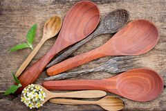 Wood spoons Royalty Free Stock Images
