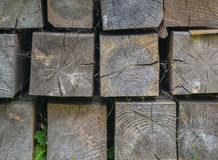Wood square shape Royalty Free Stock Photo