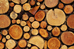 Wood stack. Used in a mountain refugee Royalty Free Stock Images