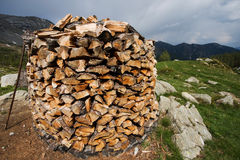 Wood stack Royalty Free Stock Image