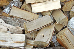 Wood stack. A stack of birch firewood stock photos
