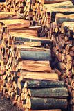 Wood Stack of chopped firewoods prepared for winter. Wood background Stack chopped firewoods prepared for winter Stock Image