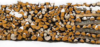 Wood stack panorama Stock Image