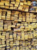 Wood stack Stacked together Nature cut into pieces for decorating work or Structure Texture surface background plant. Closeup Wood stack Stacked together royalty free stock photography