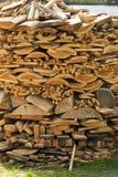 Wood stack at Zaanse Schans Royalty Free Stock Photos