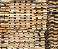 Wood stacked Stock Images