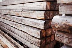 Wood stacked Stock Photo