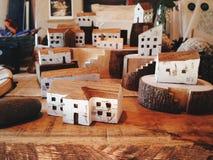 Wood stad Arkivfoto