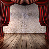 Wood stage background Royalty Free Stock Photography