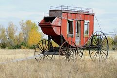 Wood Stage Coach royalty free stock photo