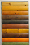 Wood stain. Varnish color samples royalty free stock photos