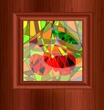 wood and stained glass Royalty Free Stock Image