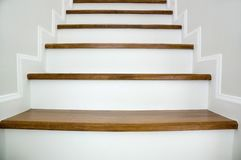 Wood stair stock photography