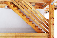 Wood stair outside. Stock Photography