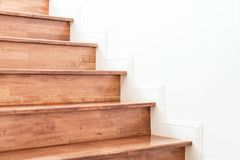 wood stair with wall Stock Photography