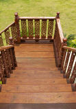 Wood staircase engraving Stock Images