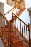 Wood Stairs. In new home Royalty Free Stock Photography