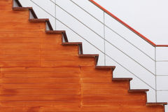 Wood stairs Stock Images