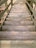 Wood stairs Royalty Free Stock Photo