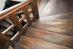 Wood stairs Royalty Free Stock Photos