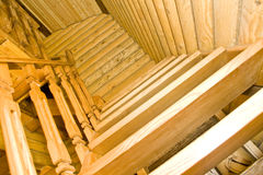 Wood stairway Royalty Free Stock Photography
