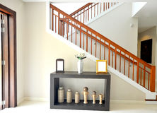 Wood stairway Royalty Free Stock Images