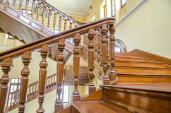 Wood stairway in Thailand Royalty Free Stock Image