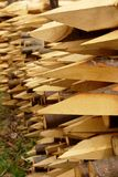 Wood stakes with sharp edge Royalty Free Stock Image