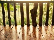 Wood staket Arkivbild