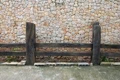 Wood staket och vägg i Hatyai Royaltyfri Bild