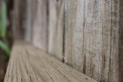 Wood staket Plank - som metas med djup Arkivbild