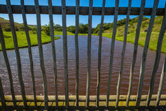 Wood staketdäcksvatten Royaltyfria Bilder