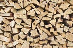 Wood stapel Arkivbild