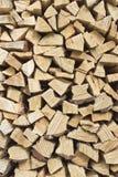 Wood stapel Royaltyfria Bilder