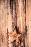 Wood Star Background Royalty Free Stock Photos