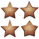 Wood Stars Icons For Ui Game Stock Images