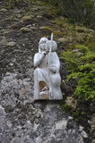 Wood Statue of A Araucanian Woman. In a hill Royalty Free Stock Image