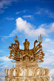 Wood Statue of Guan Yin Stock Photos