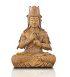 Wood Statue of Guan Yin Stock Images