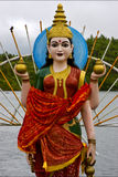 Wood statue of a Hinduism  women Stock Image