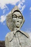 Wood statue. Vlkolinec village (Slovakia) UNESCO Royalty Free Stock Images