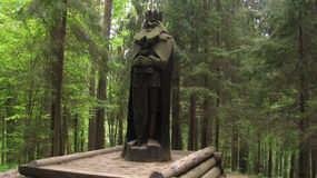 Wood statute. In the woods Royalty Free Stock Photo