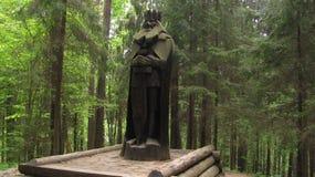 Wood statute Royalty Free Stock Photo