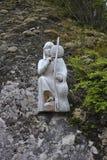 Wood staty av en Araucanian kvinna Royaltyfri Bild