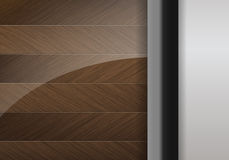 Wood and Steel background with space for text Royalty Free Stock Photography