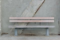 Wood and steel Bench Royalty Free Stock Images