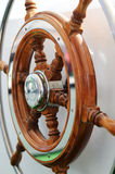 The wood steering wheel Royalty Free Stock Image