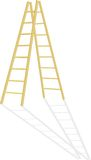 Wood step-ladder Stock Images